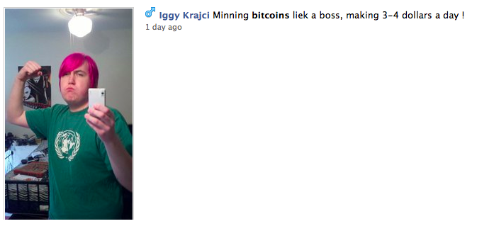 Facebook buttcoin users are a lively bunch