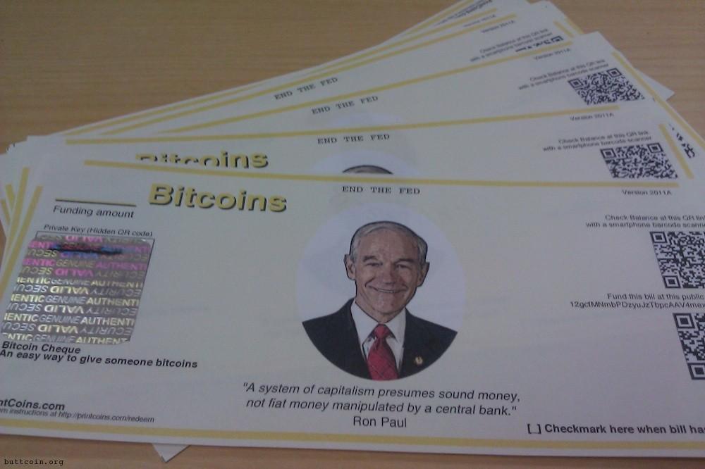 Answer: Ron Paul Bitcoin Checks. Question: What is a libertarian's wet dream?