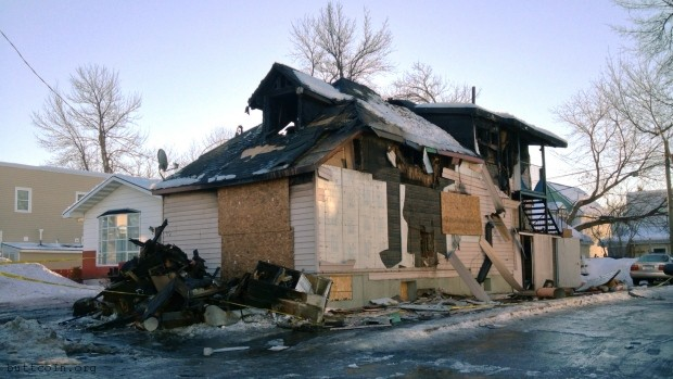 """Fellow bitcoin users[sic] house burned to the ground"""