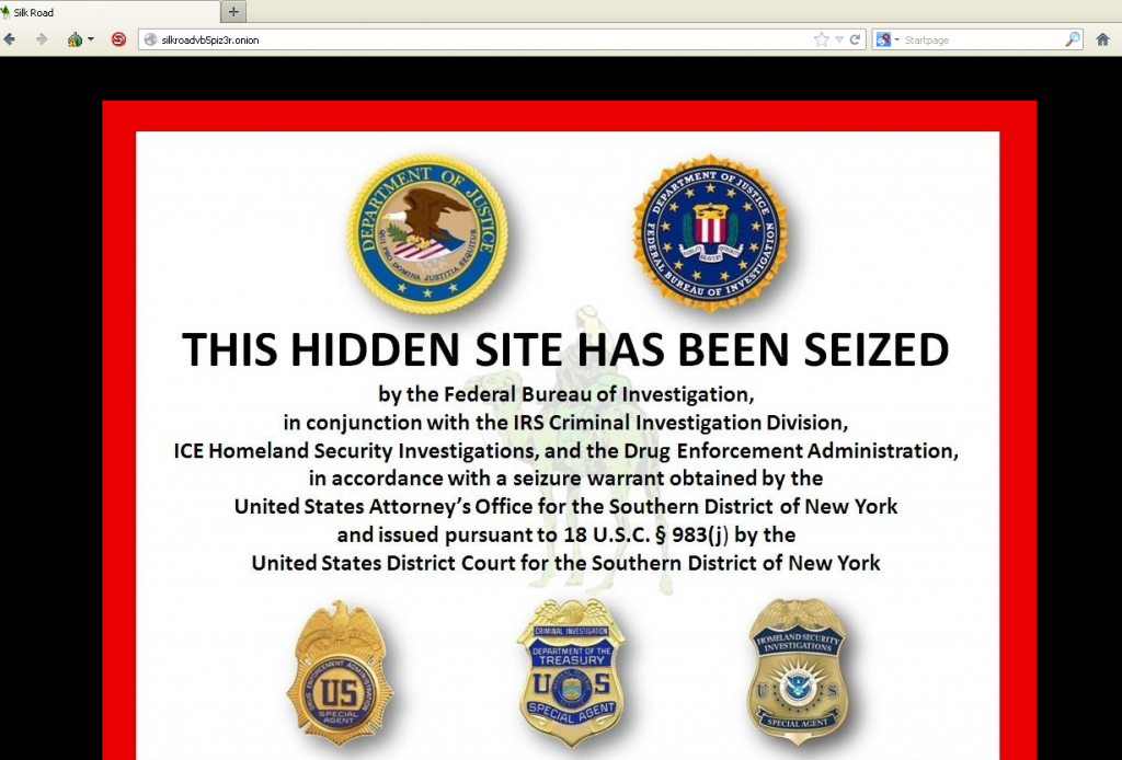 The Silk Road is closed