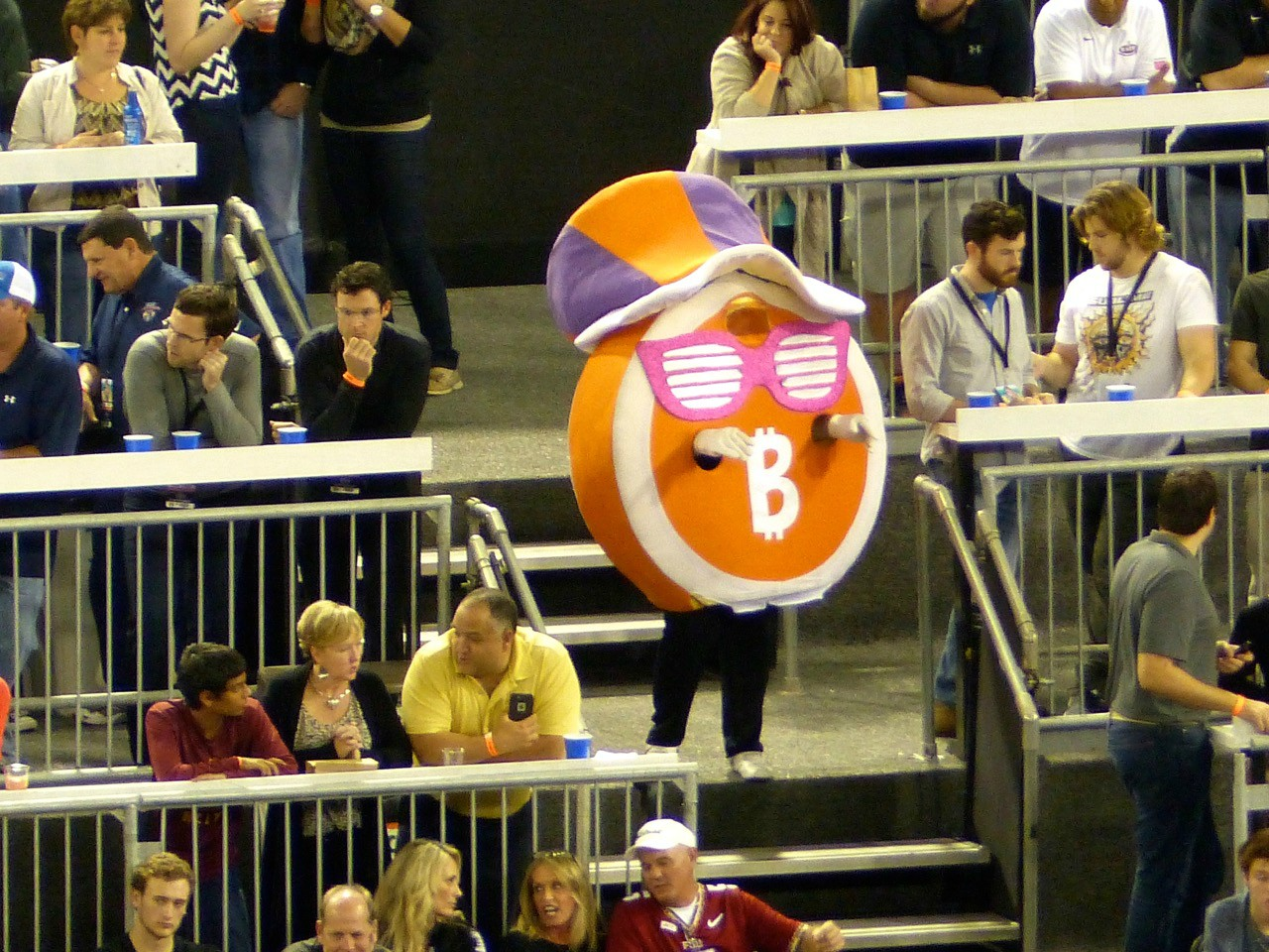 The Bitcoin Bowl really did happen and we had someone at the game.